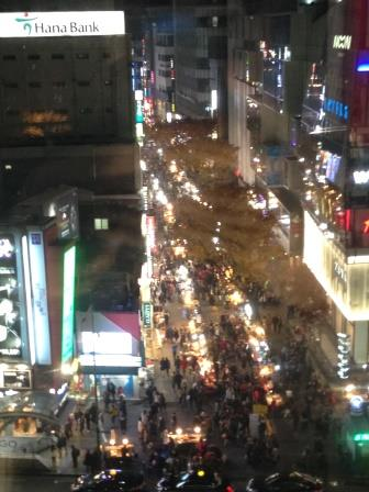 View of Myeong- dong from the 5th Floor of Lotte Department Store