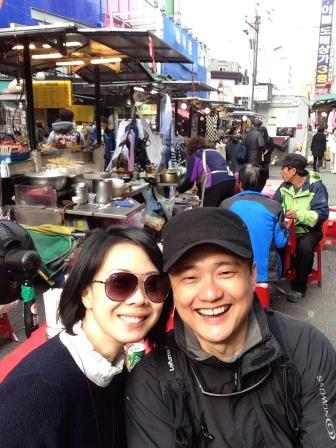 A quick selfie before we continue on Namdaemum Market