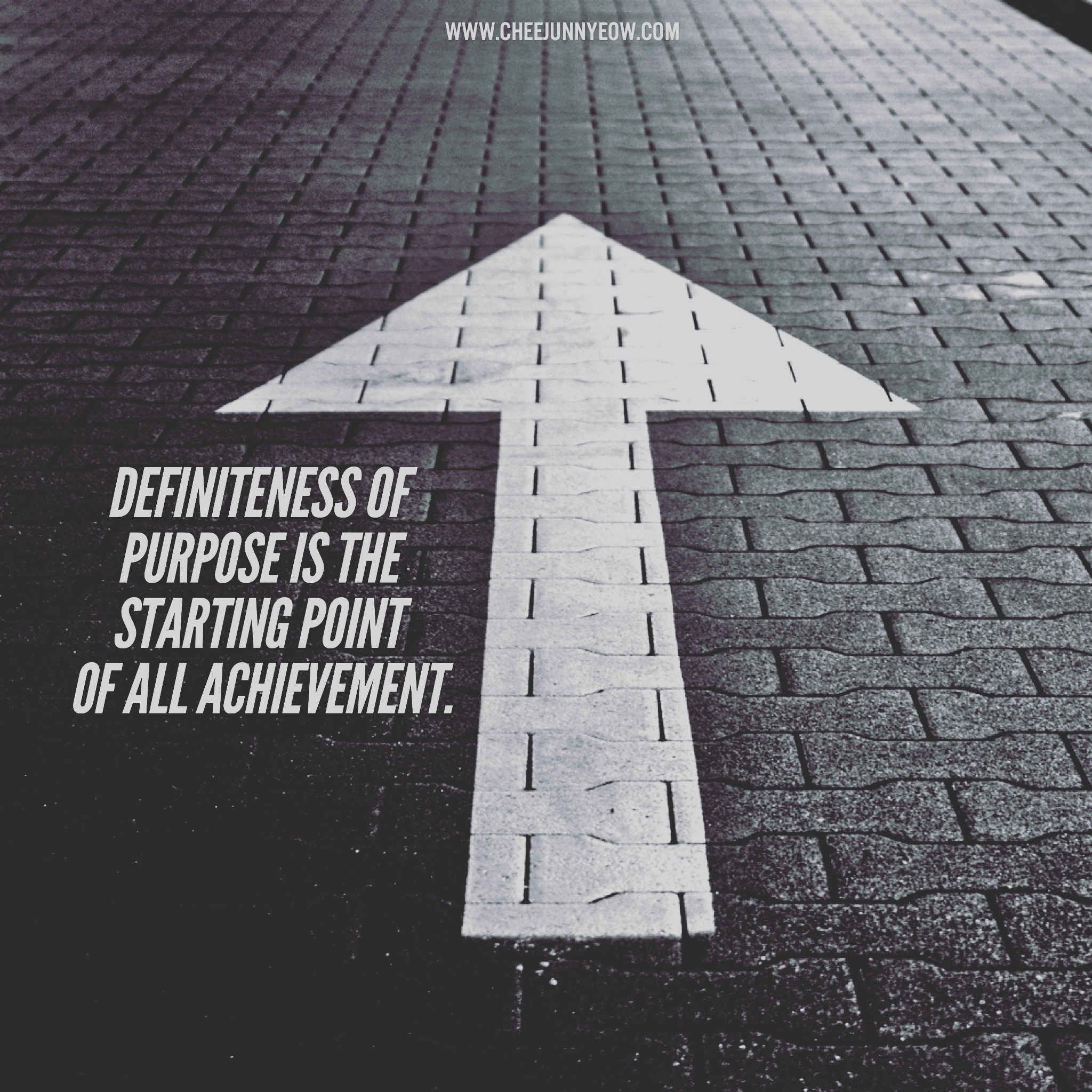 definiteness of purpose in the starting point of all achievements