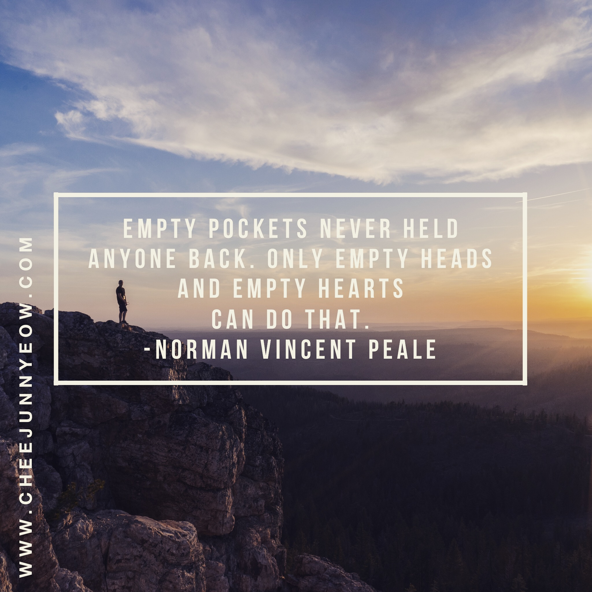 it's not money that holds people back; its empty heads and empty hearts
