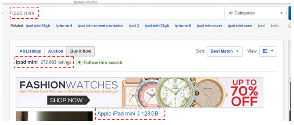 hot to start an online store - iPad mini ebay listing search