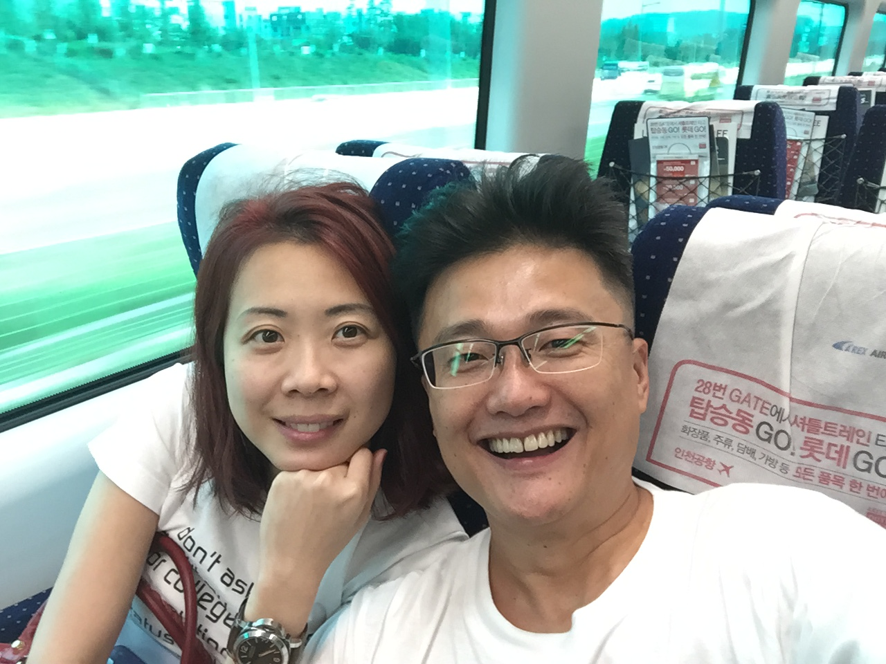 on our way from Incheon Int'l Airport to Seoul Station for our HSR connection to Busan