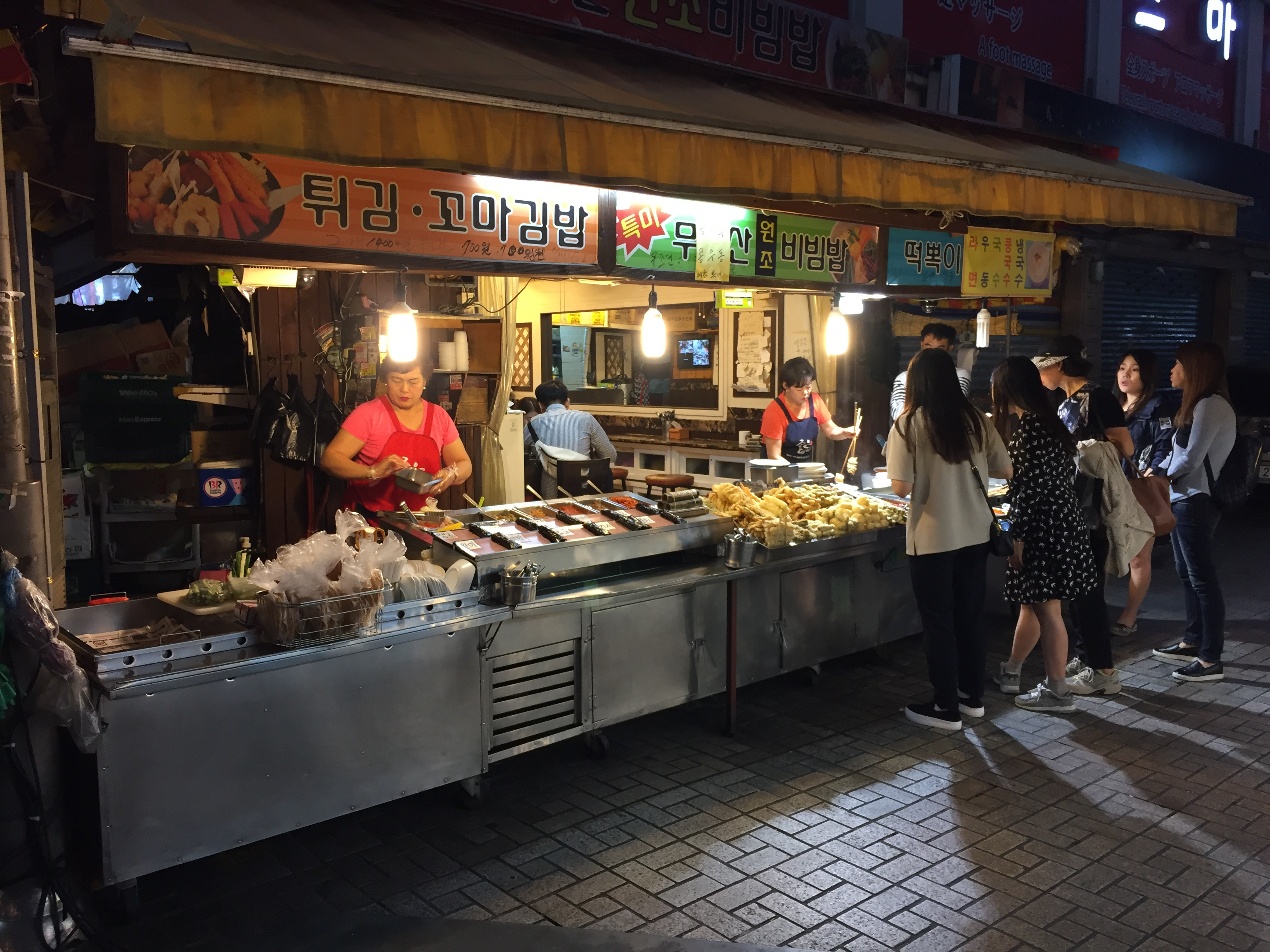 street food stalls along biff square