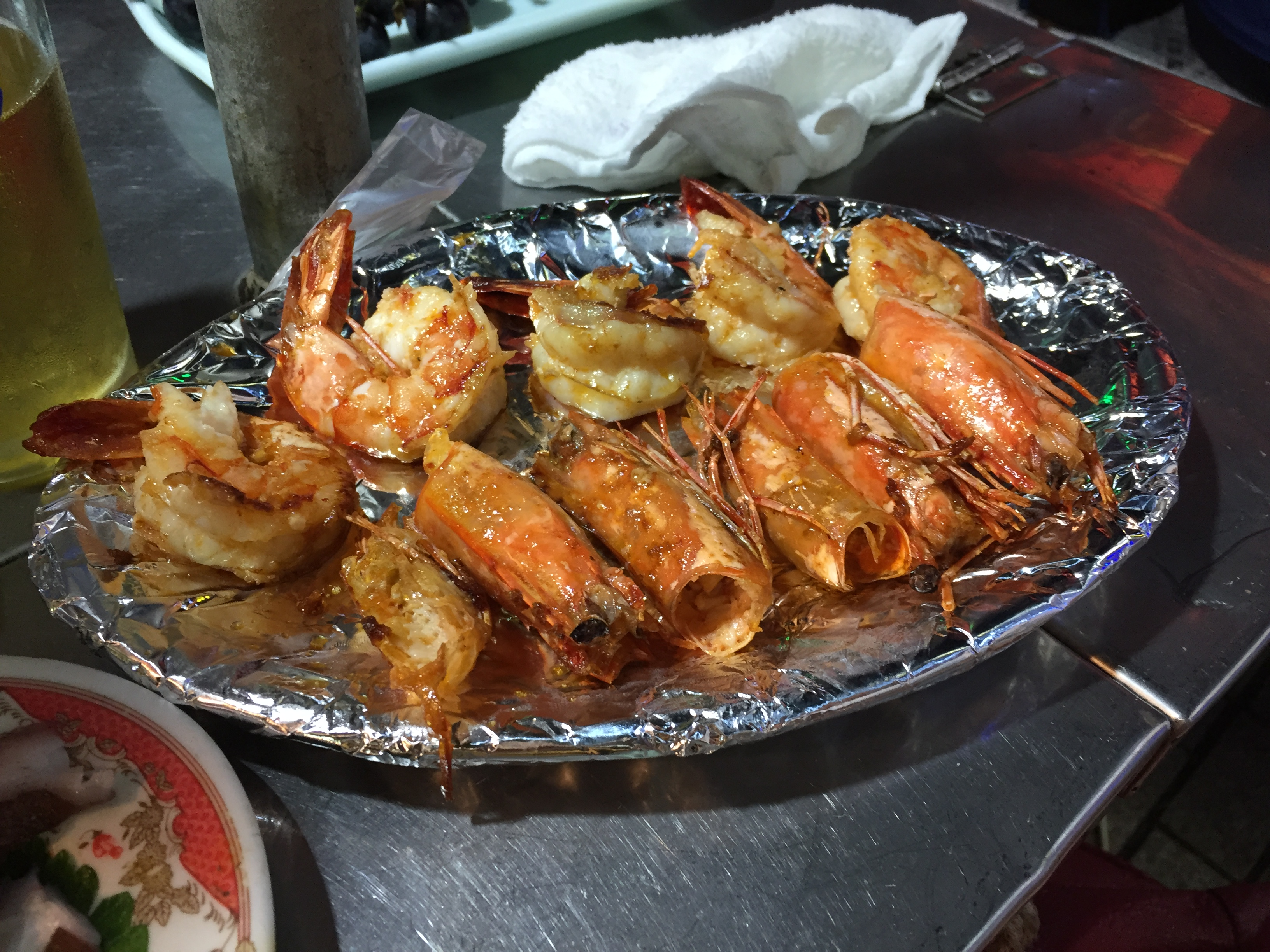 bbq buttered tiger prawns